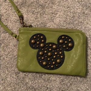 Green Beaded Mickey Mouse Wrislet